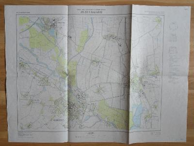 25-311 Kroměříž - základní mapa ČSSR (1988)