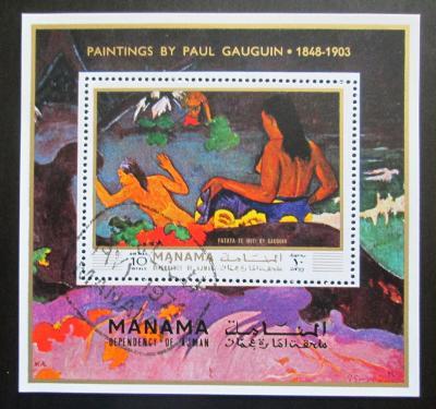 Manáma 1971 Umění, Paul Gauguin Mi# Block 169 A 1369