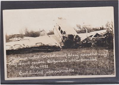 Zlín Baťa letadlo havárie čistá