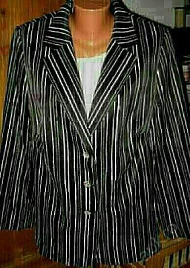 Elegantní značkové černobílé butikové sako,XL-mXXL