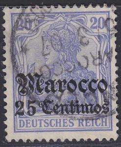 Deutsche Auslandpostämter MAROKO MiNr 37co
