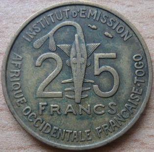 Togo 25 Francs
