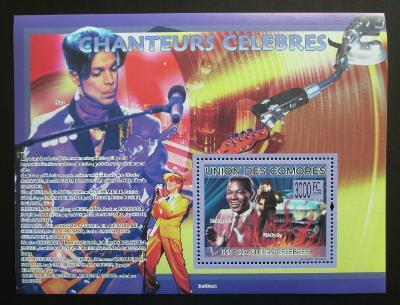 Komory 2009 Slavní zpěváci Mi# Block 493 Kat 15€ 1373