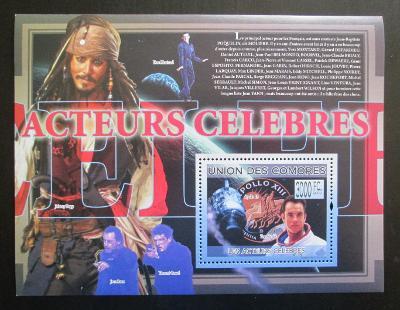 Komory 2009 Slavní herci Mi# Block 500 Kat 15€ 1373