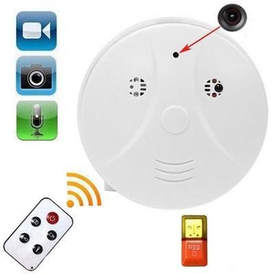 Špionážní kamera skrytá v detektoru kouře, detekce pohybu 1280x960