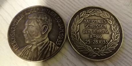 NĚMECKO ŘÍŠE medaile 1933 Adolf Hitler KKSG kopie *234c