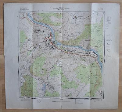 Ukázkový mapový list M-33-96-D-b-4 (1957)