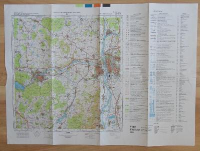 Cvičná mapa C-31-55-B - Bělá (1972)