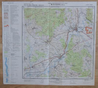 Cvičná mapa M-34-122-B-a - Bělá (1954)