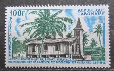 Gabon 1967 Protestantský kostel Mi# 287 0586