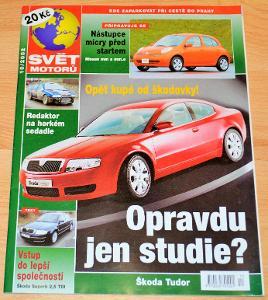 ŠKODA TUDOR / SUPERB 2002 - ČASOPIS SVĚT MOTORŮ S ČLÁNKEM