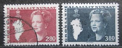 Grónsko 1985 Královna Markéta II. Mi# 155-56 0592