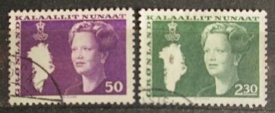 Grónsko 1981 Královna Markéta II. Mi# 126-27 0592