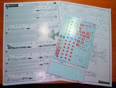 BEGEMOT 48-024 Obtisky letadla Su-15 část #1 / 1:48