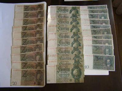 30 x bankovka