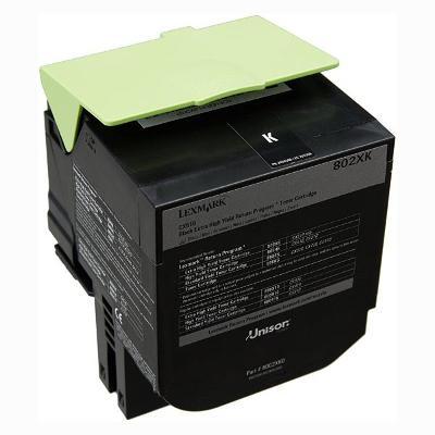 Originální toner Lexmark 80C2XK0, černý, 8000 str.