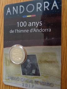 2 euro - 2017 - Andorra - 100 let existence andorrské hymny