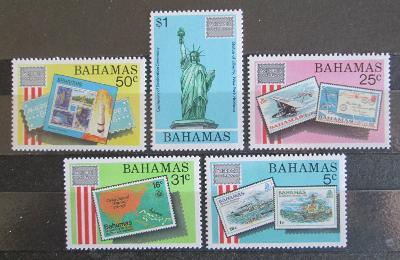 Bahamy 1986 Výstava AMERIPEX Mi# 611-15 Kat 13€ 0618