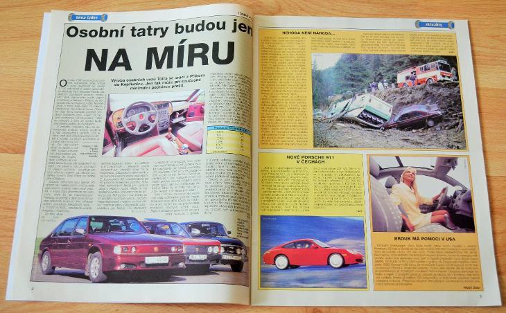 TATRA 603, 613, 700 / FORD ESCORT - ČASOPIS SVĚT MOTORŮ S ČLÁNKEM 1998 - Motoristická literatura