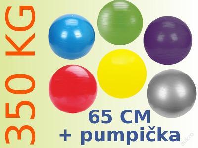 Gymnastický fitness míč 65 cm + pumpička + DÁREK!