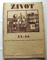 ŽIVOT - XX, 4-5, 1946 - F. Hudeček, původní dřevoryt, str 97 až 144