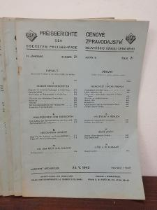 1942 roč. III - Cenové zpravodajství nejv. úřadu cenového