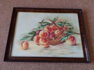 Obraz Akvarel za sklem podepsán JAROLÍMEK