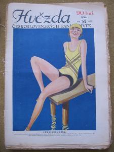 HVĚZDA československých paní a dívek rok 1930   čísla 28 - 52 krásné