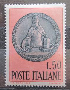 Itálie 1969 Státní účetnictví, 100. výročí Mi# 1294 1388
