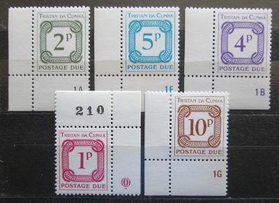 Tristan da Cunha 1976 Doplatní, rohy Mi# 6-10 1372