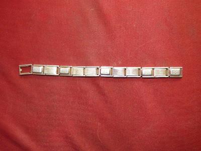 Hodí se? Řemínek k hodinkám, okolo 1950-60, hliníkáč článkový, ovšem n