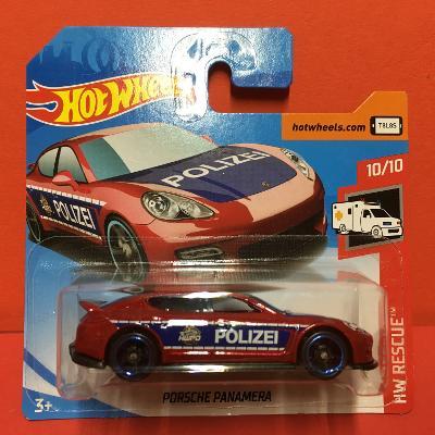 Porsche Panamera Polizei - Hot Wheels 2019 100/250 (E7-7)