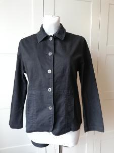Dámská jarní/letní,černá, bavlněná bunda s elasténem,M.