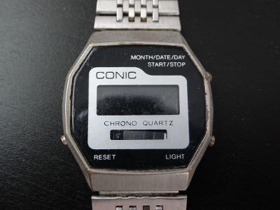 CONIC - pánské digitálky, průměr 3, cm, funkčnost neznámá.