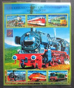 Guinea 2001 Lokomotivy z celého světa Mi# 3121-26 Kat 23€ 1405
