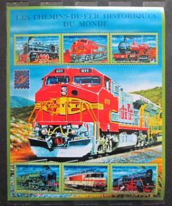Guinea 2001 Lokomotivy z celého světa Mi# 3115-20 Kat 23€ 1405