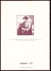 1990 (ČSSR) - Černotisk - BELGICA 90, Josef Herčík, (4841)
