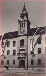 Bad Reichenhall * Rathaus, část města, hory, Alpy * Německo * Z1432