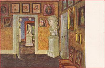 Interiér * socha, Goethe, obraz, nábytek, umělecká * M6086