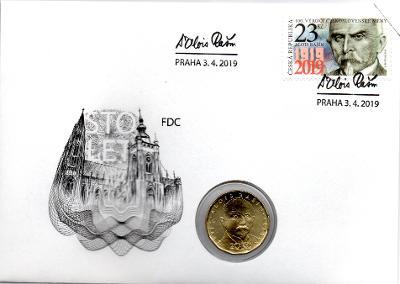MDO20F - 20 Kč 2019 UNC - Vilém Pospíšil - mincovní dopis s biokartou