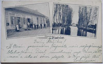 Zběř Vysoké Veselí hostinec Čeňka Komárka cca 1915