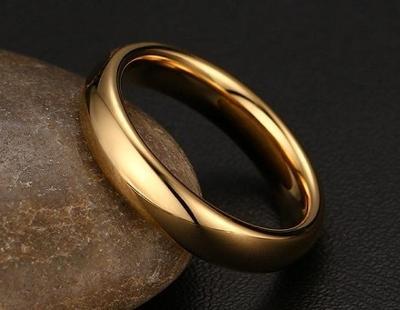 Prsten ZLATÝ WOLFRAM klasický 6mm * 18-21mm