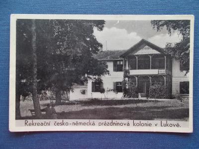 Zlín Fryšták Lukov  Vila Tusculum Mateřská školka kolonie Hitlerjugend