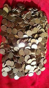 Dánsko 2,50 kilo mincí z bronzu 25 Öre Margarethe II celkem 900 Mincí!