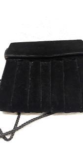 Luxusní semišová kabelka černá (331)