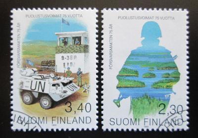 Finsko 1993 Ozbrojené síly, 75. výročí Mi# 1215-16 1439