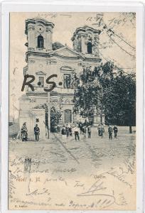Veselí nad Moravou 1904 - Hodonín , kostel , /ZX/