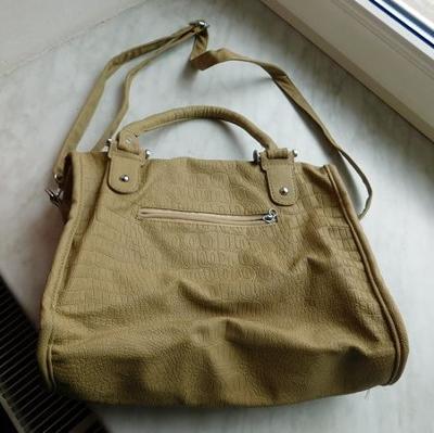 Zajímavá béžová kabelka - i crossbody