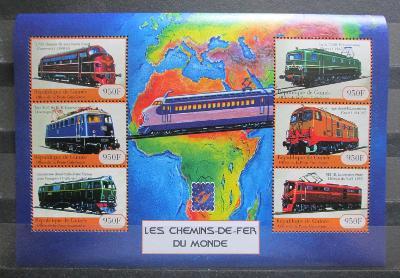 Guinea 2001 Lokomotivy z celého světa Mi# 3139-44 Kat 23€ 1451