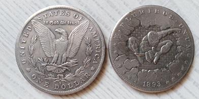 USA 1 dollar 1893 SPIDERMAN tulácký *137b